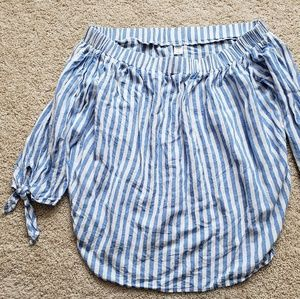 Cotton striped shirt 3/4 sleeves